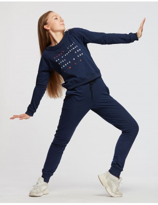 Sweat TALIA JR ART Temps Danse - marine