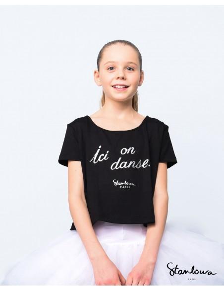 """Crop-Top ANNA """" Ici on danse"""" Stanlowa"""