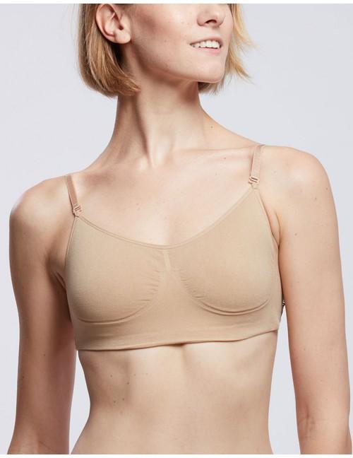 Soutien-gorge nude de danse invisible nude SILK - TEMPS DANSE
